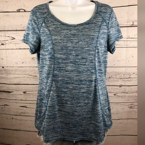 Layer 8 Women's Activewear Top Keyhole Back Large